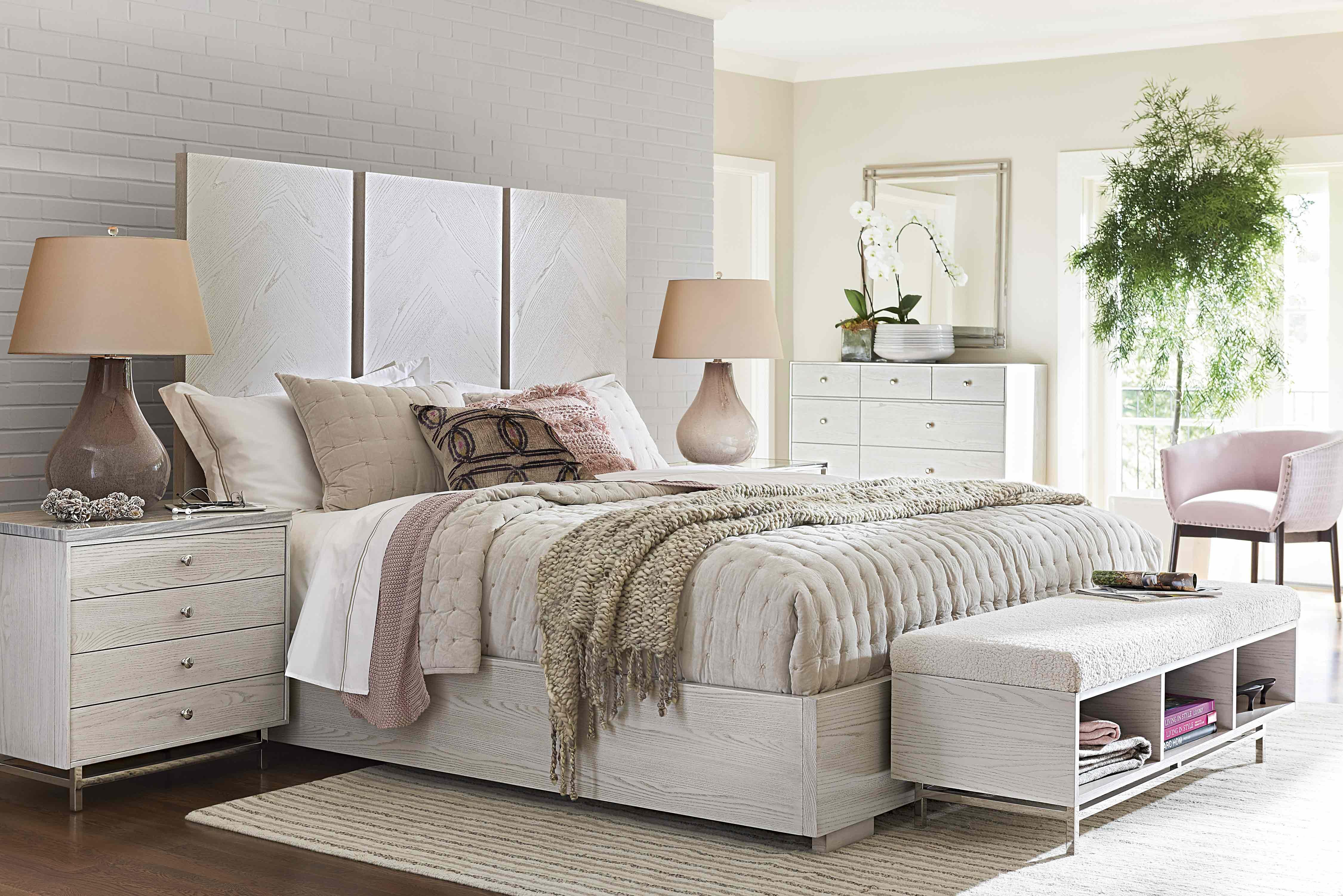 Buy Universal Furniture Paradox Axiom Panel Bedroom Set In Ivory