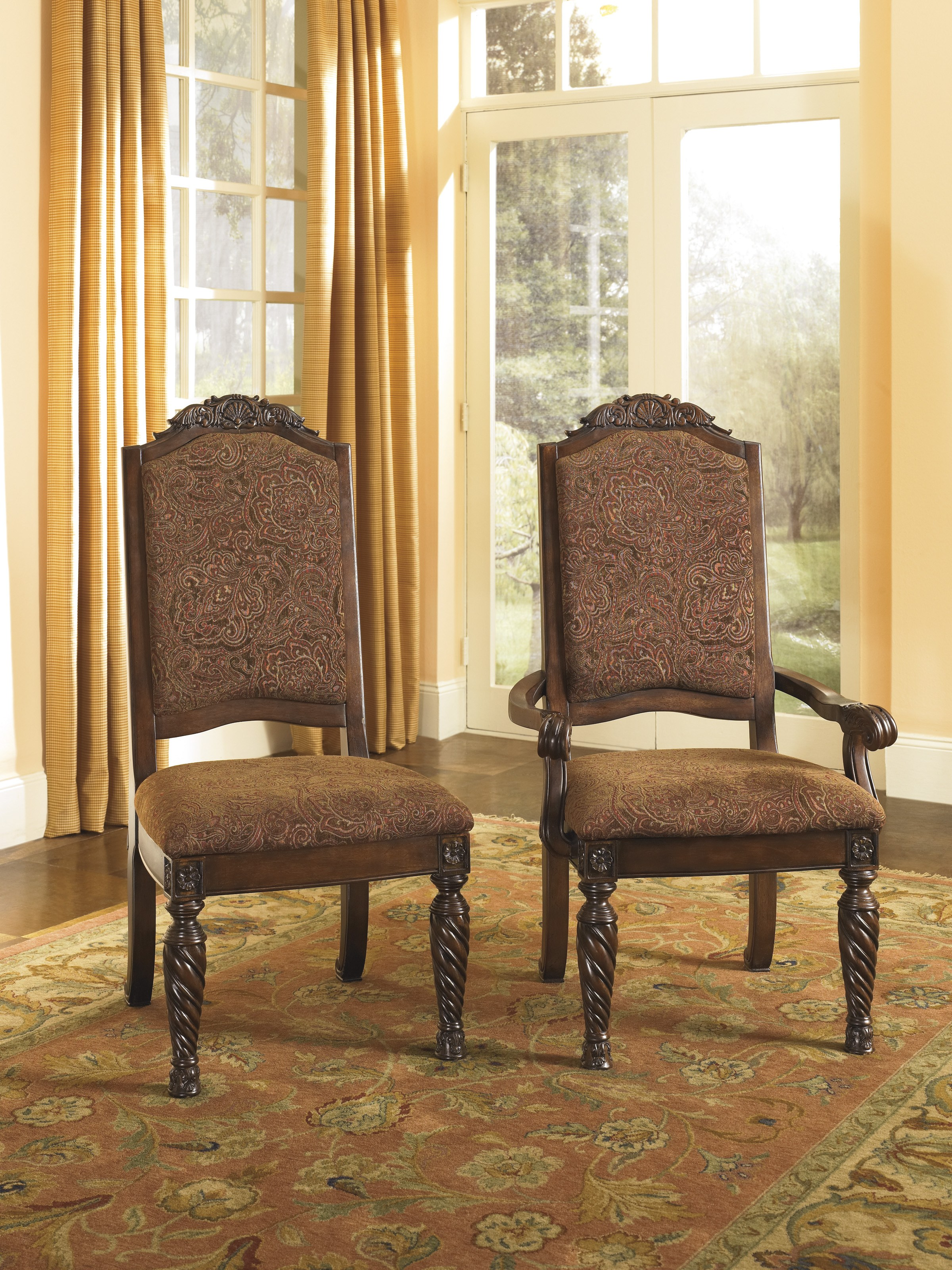 North S Upholstered Arm Chair