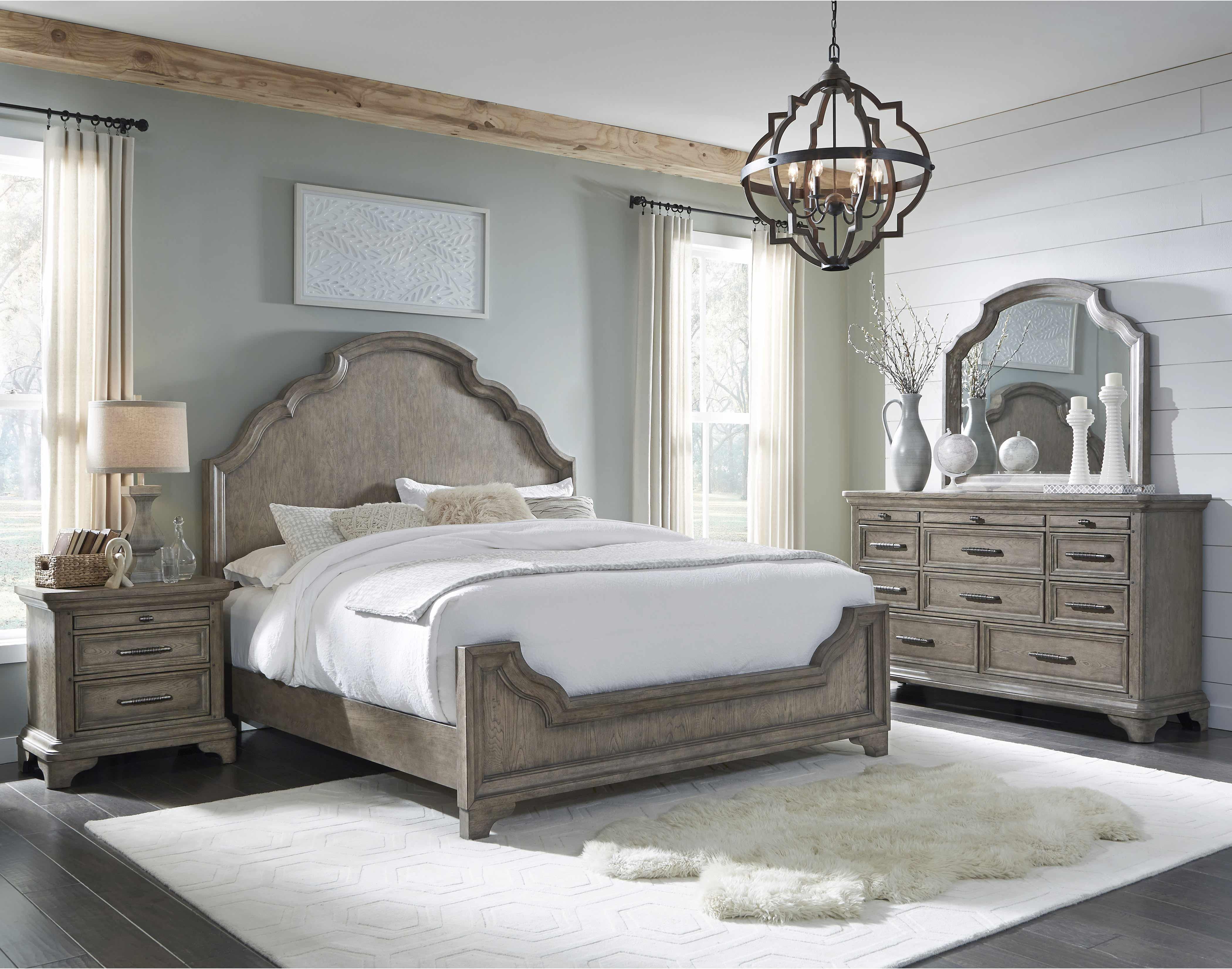 Sale Pulaski Furniture Bristol Panel Bedroom Set In Grey Brown