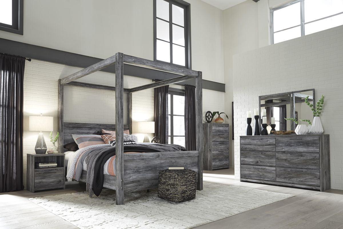 Buy Ashley Furniture Baystorm Canopy Bedroom Set In Grey B221 61 Set