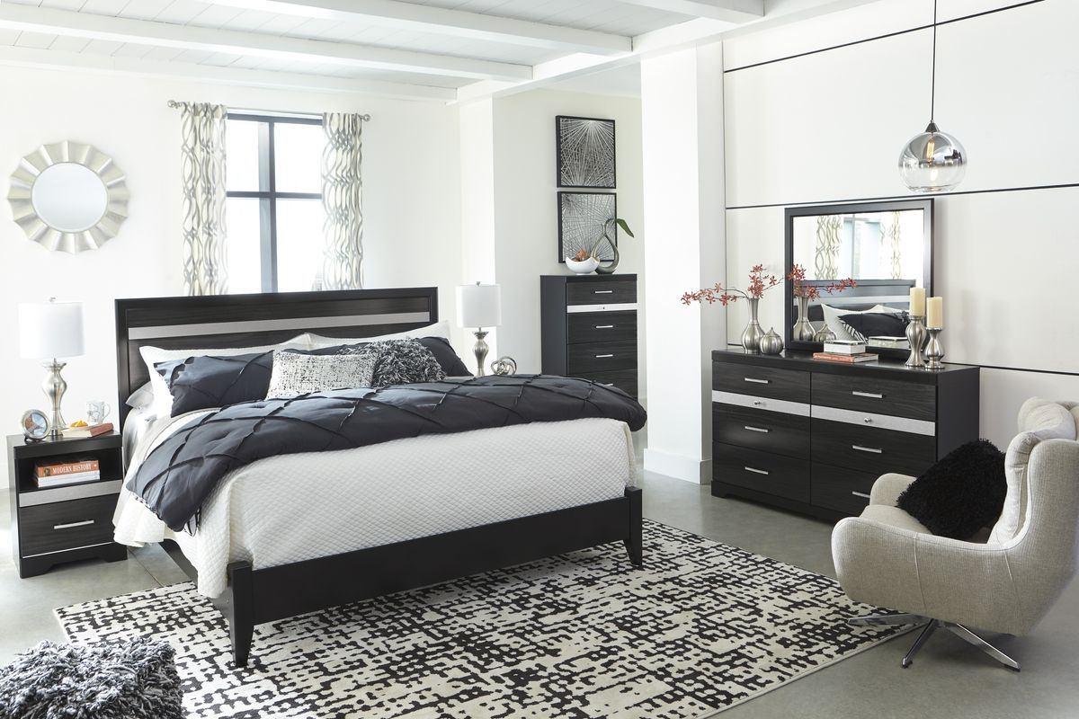 Buy Ashley Furniture Starberry Panel Bedroom Set In Black B304 54 Set