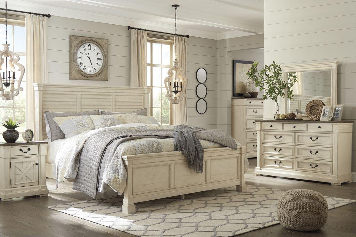 Shop Ashley Furniture Bolanburg Louvered Bedroom Set In White B647 77 Set