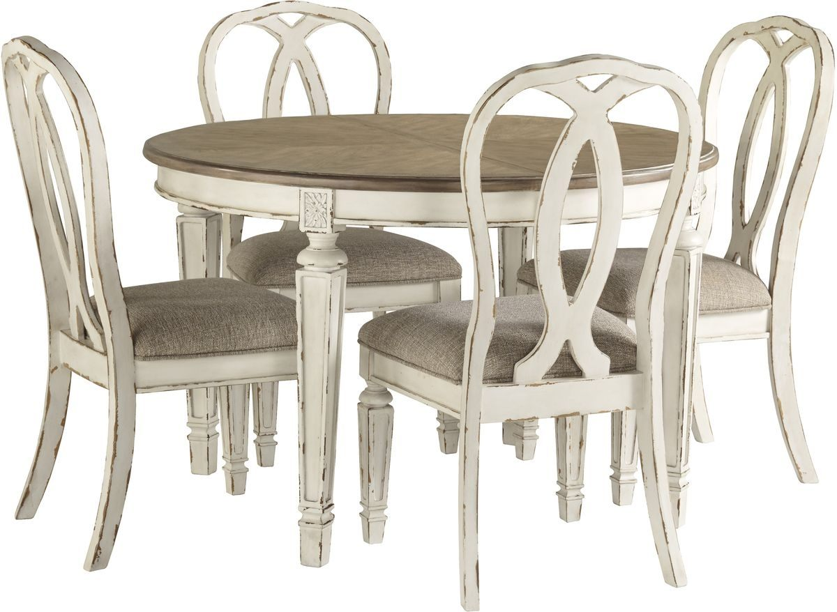 Ashley Furniture Realyn Oval Dining Set With Ribbonback Chairs