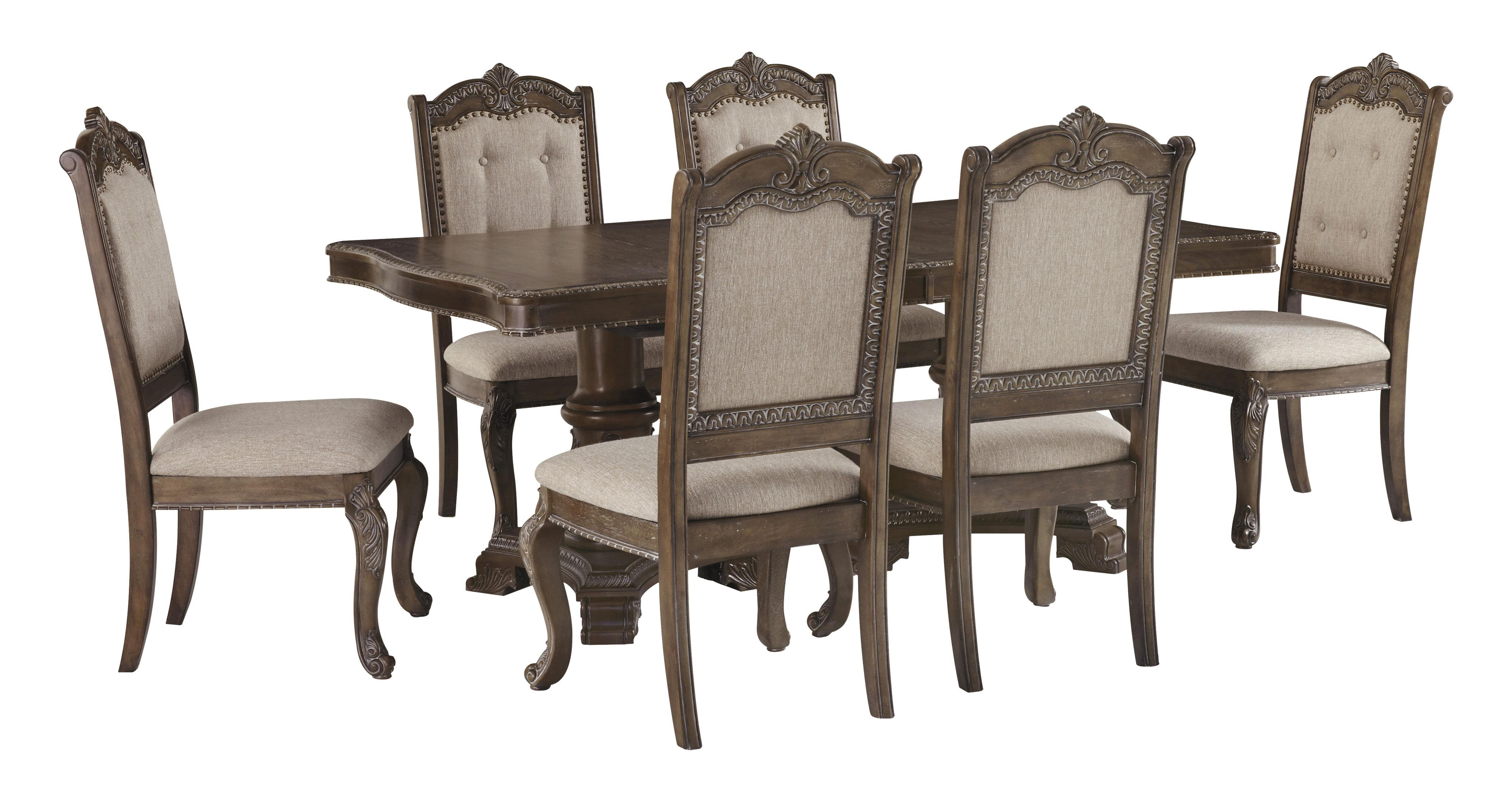 Ashley Furniture Charmond Rectangular Dining Room Set in Brown
